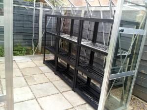 October 2015 Greenhouse shelving
