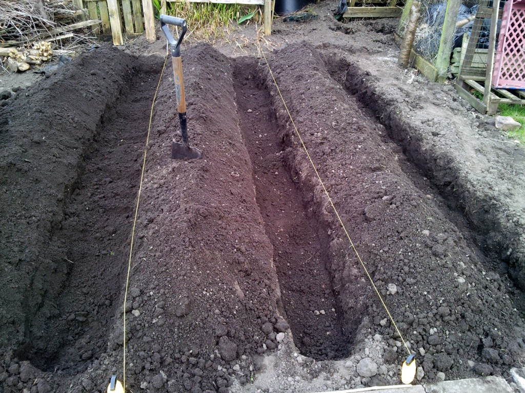 March 2016 spud trenches dug