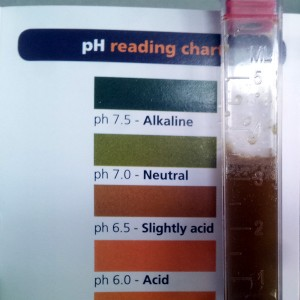 April 2016 - asparagus bed pH test results
