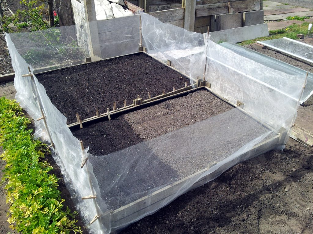 April 2016 root beds prepped and protected