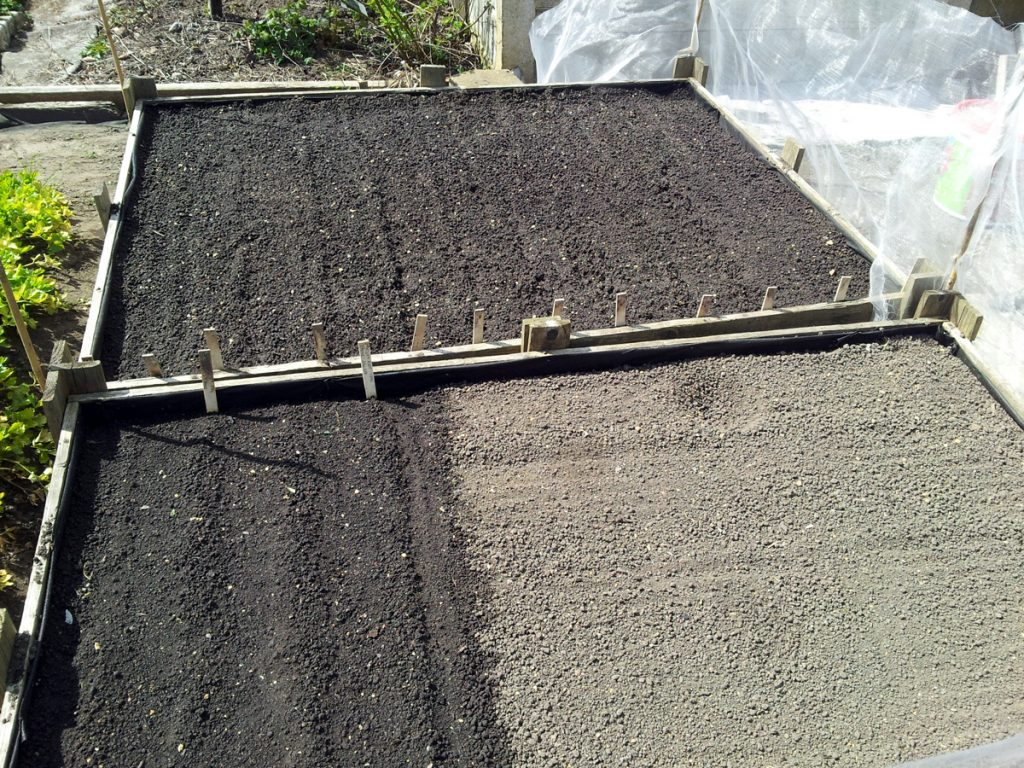 April 2016 root beds initial sowing