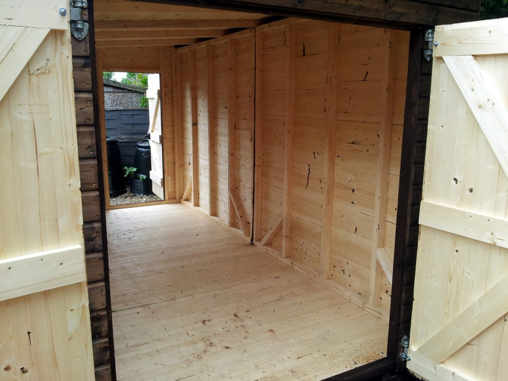 June 2016 - New Shed Interior