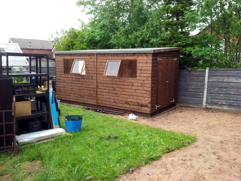 June 2016 - New Shed from the side