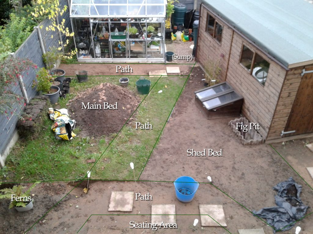 September 2016 Cottage Garden Project progress