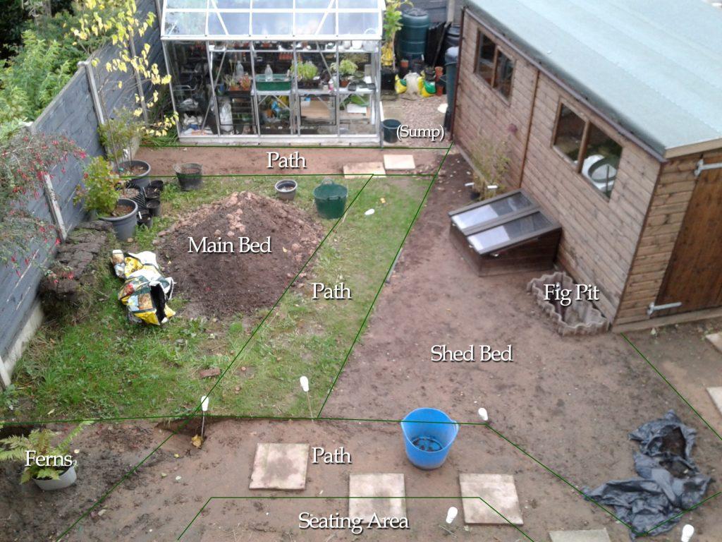 September 2016 Cottage Garden Project progress