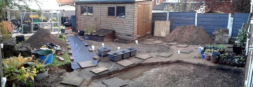 October 2016 back garden panorama