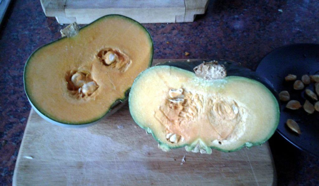 October 2016 Squash ready for cooking