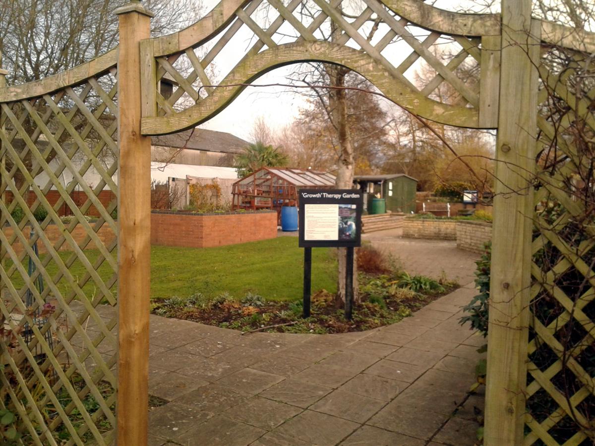 November 2017 Garden Organic therapy garden